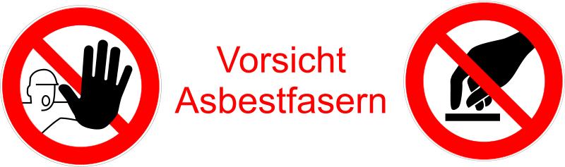 Vorsicht Asbestfasern